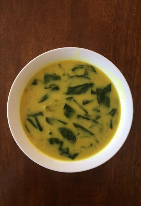 green split soup Indian style