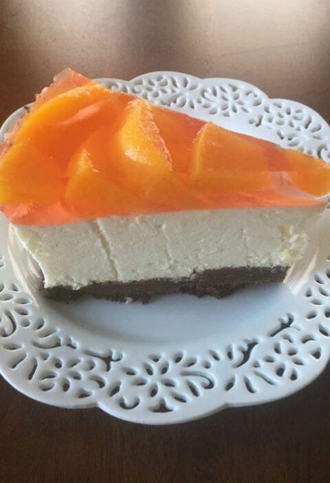 no bake cheesecake with peaches